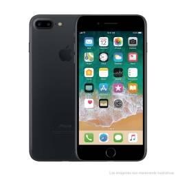 iPHONE 7 PLUS 128GB + NEGRO + VIDRIO TEMPLADO + LIBRE