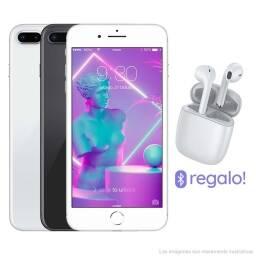 iPHONE 8 PLUS 64GB + VIDRIO TEMPLADO + AURICULARES BLUETOOTH + LIBRE