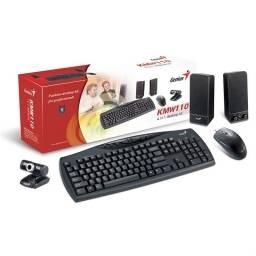 Kit 4 en 1 Teclado, Mouse, parlante y cámara Genius kmsw110
