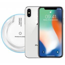 Apple Iphone X 256GB Fantasma + Vidrio Templado + Cargador Inalámbrico