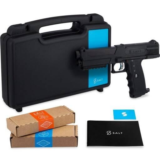 Kit Pistola de autodefensa con pulverización de pimienta con suministro de sal