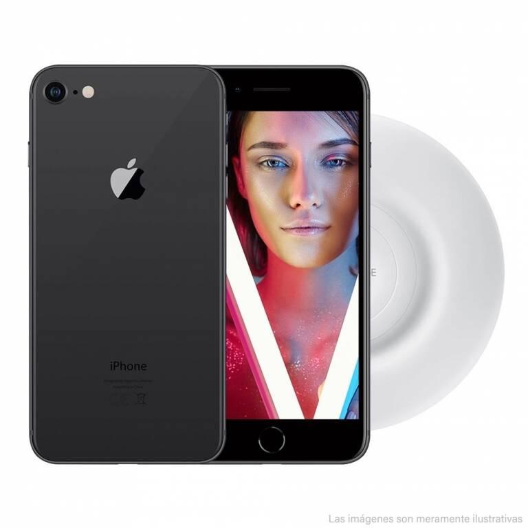 iPHONE 8 64GB + VIDRIO TEMPLADO + CARGADOR INALÁMBRICO + LIBRE