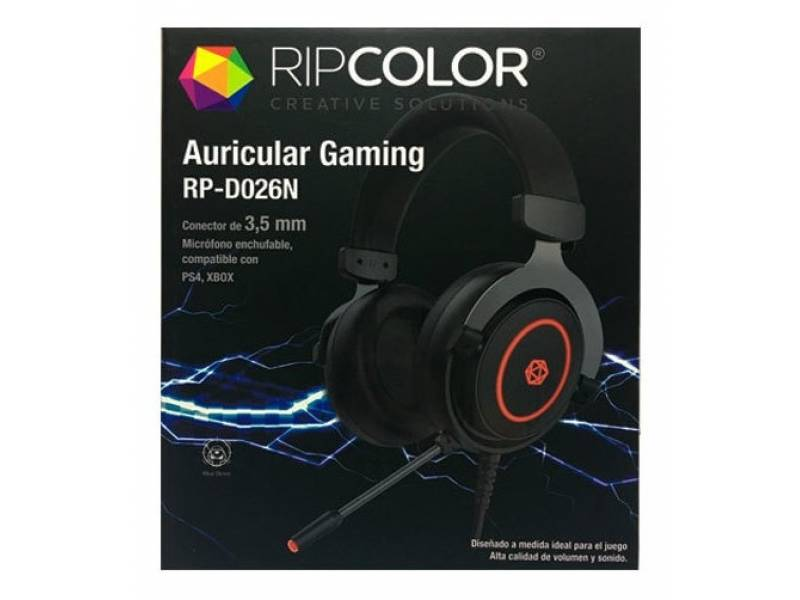 AURICULARES ESTEREO PC XBOX PS4 VINCHA RIPCOLOR RP-D026N