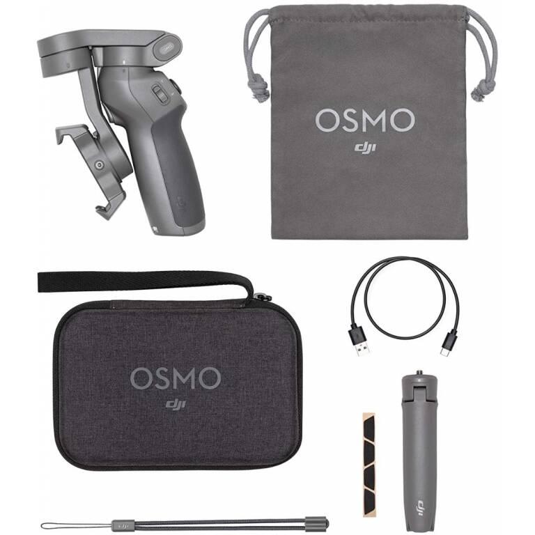 Pack combo de estabilizador Osmo Mobile 3 de DJI para Smartphone
